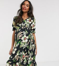Unique 21 Maternity Tropical Wrap Front Beach Dress-Multi