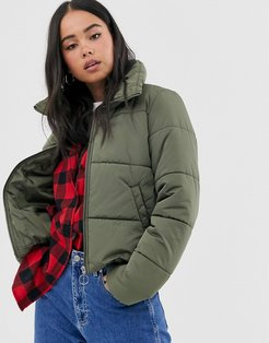 Foundry Puffer green jacket