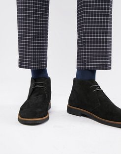 Hornchurch chukka boots in black suede