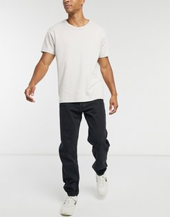 Barrel loose fit jeans in tuned black