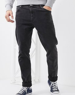 Sunday relaxed tapered comfort fit jeans in black