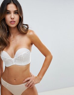 refined glamour ultimate strapless lace bra a - g cup-Beige