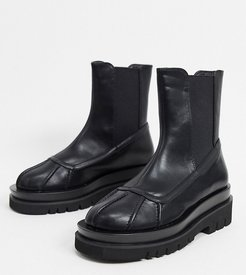 Exclusive Gila vegan chunky biker boots in black