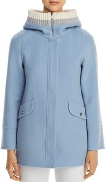 Rib-Knit Hooded Cashmere Coat - 100% Exclusive