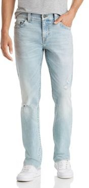 Ricky No Flap Straight Slim Fit Jeans in Worn Blue Tide