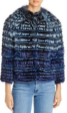 Short Tipped Fox Fur Jacket - 100% Exclusive