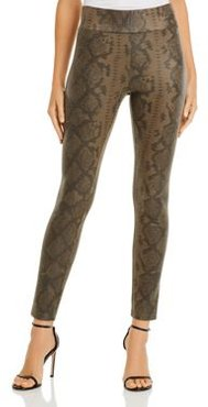 Bagatelle. nyc Snake Print Faux Suede Leggings
