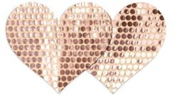 Nippies Rose Gold-Tone Heart Pasties