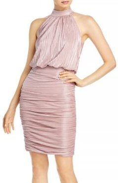 Ruched High Neck Dress - 100% Exclusive