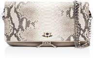 Rock Python Embossed Leather Crossbody Clutch