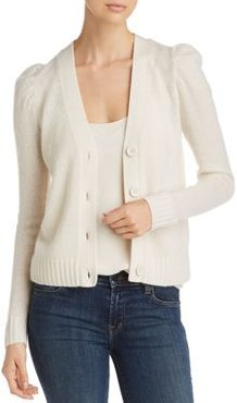 Puff-Sleeve Cashmere Cardigan - 100% Exclusive