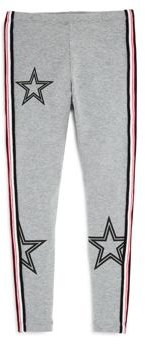 Girls' Striped Star Leggings - Big Kid