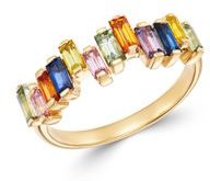 Rainbow Sapphire Ring in 14K Yellow Gold - 100% Exclusive
