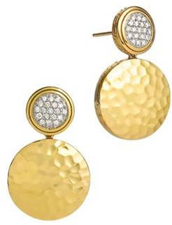 Palu 18K Gold & Diamond Pave Double Drop Earrings, .28 ct. t.w.