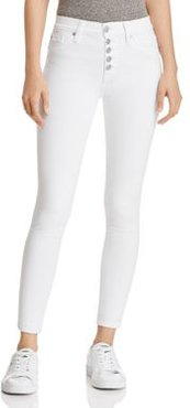 High Rise Ankle Skinny Jeans in Optic