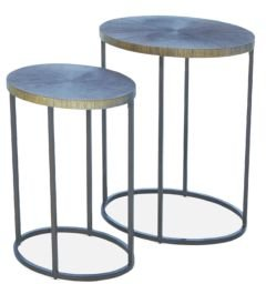 Striated Accent Table, Small