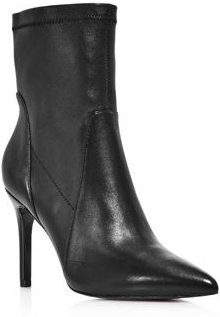 Laurent Pointed-Toe High-Heel Booties