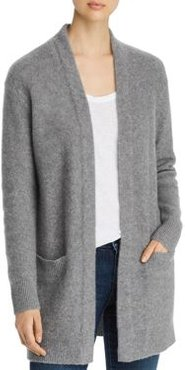 Open-Front Brushed Cashmere Cardigan - 100% Exclusive