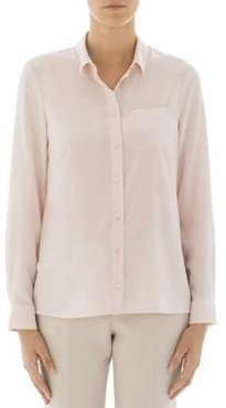 Metallic Trimmed Silk-Blend Button-Down Shirt