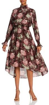 Floral Smocked High/Low Dress