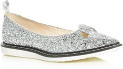 The Mouse Shoe Glitter Pointed-Toe Flats