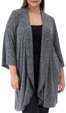 Ellen Waterfall Ribbed Open-Front Cardigan