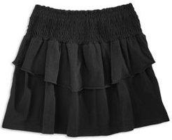 Girls' Smocked Ruffled Skirt - Big Kid