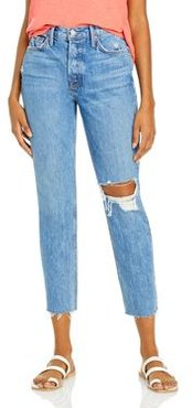 Karolina Distressed Skinny Jeans in Kiss And Tell