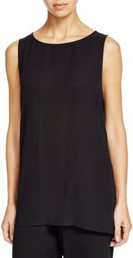 Eileen Fisher System Petite High/Low Silk Tank