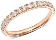 Diamond Shared Prong Stacking Band in 14K Rose Gold, 0.50 ct. t.w. - 100% Exclusive
