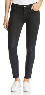 Ava Waxed Skinny Jeans in Cobalt