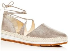 Marcey Ankle-Tie Flats