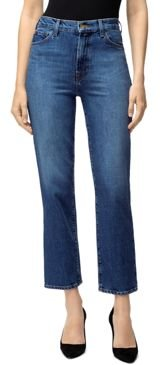 Jules High-Rise Straight Leg Ankle Jeans in Metropole