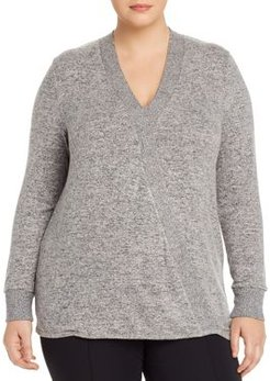 Mavis Cozy Faux-Wrap Top