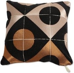 Circle-Marquetry Down Pillow, 20 x 20