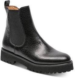Peggy Croc-Embossed Ankle Boots
