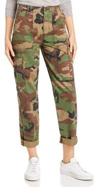 High Rise Straight Classic Jeans in Stone Camo