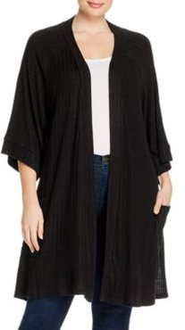 Effet Ribbed-Knit Cardigan