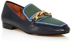 Jessa Pointed-Toe Embellished Loafers