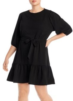 Puff-Sleeve Dress - 100% Exclusive