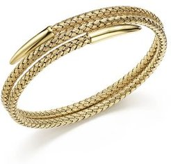 14K Yellow Gold Woven Wrap Bangle - 100% Exclusive