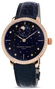 Manufacture Slimline Moonphase Watch with Diamonds, 39mm