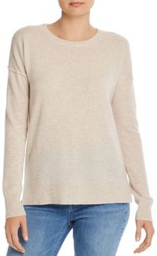 Cashmere High/Low Crewneck Sweater - 100% Exclusive