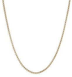 18K Yellow Gold Chain Necklace, 24