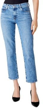 Adele Mid-Rise Straight Ankle Jeans in Chadron