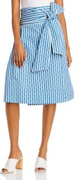 Gemini Link Cotton Wrap Skirt