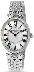 Art Deco Oval Stainless Steel Watch, 30 x 25mm