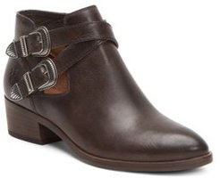 Ray Almond Toe Leather Western Booties