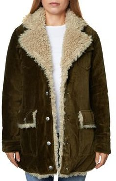 Valley Faux Shearling Lined Corduroy Jacket