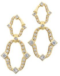 18K Yellow Gold Secret Garden Diamond Earrings